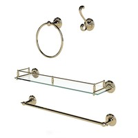Devon & Devon Old Navy classic bathroom accessories towel ring holder hook glass shelf